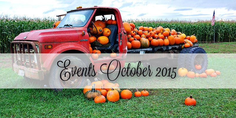 Events in Savannah and Richmond Hill October 2015