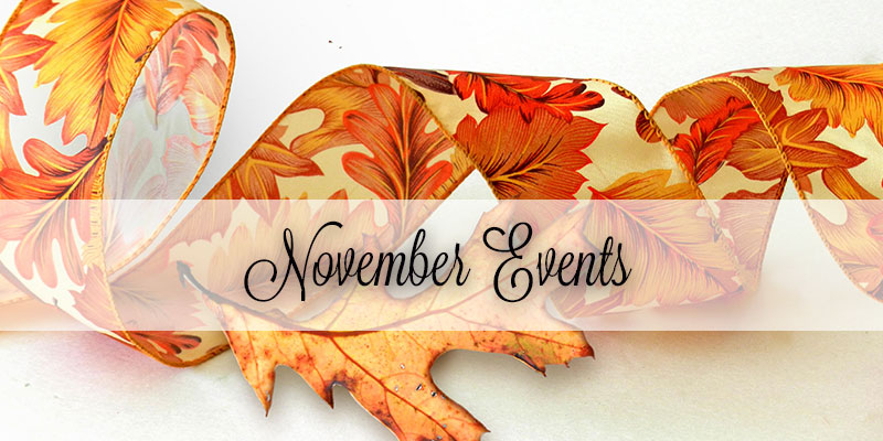 Events in Savannah and Richmond Hill November